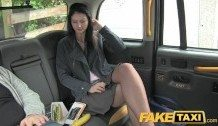 FakeTaxi Brunette exhibitionist