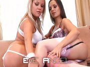 Sunny Diamond and Eve Angel having fun